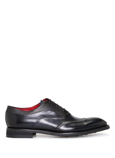 Barrett %100 Deri Bağcıklı Klasik Ayakkabı Mavi